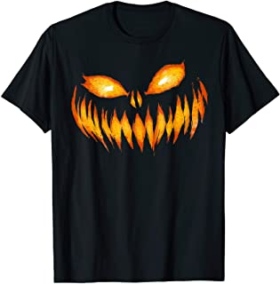 Jack O Lantern Scary Carved Pumpkin Face Halloween...