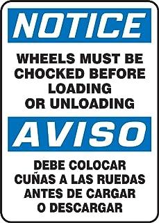 Accuform SBMVHR842VA Aluminum Spanish Bilingual Sign, Legend