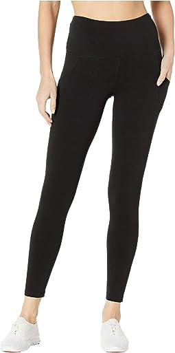 Cotton/Spandex Basics 7/8 Leggings w/ Side Pocket