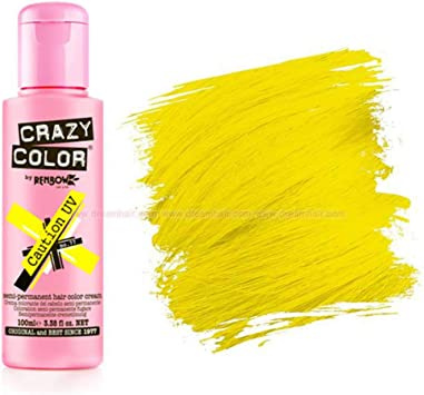 Crazy Color 77 Caution Uv 100 ml (Amarillo)