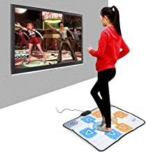 $50 » Dedicated Game Dancing Mat, Anti Slip Dance Revolution Pad Mat for Wii Console Game, Compatible for Home Game Accessories,...