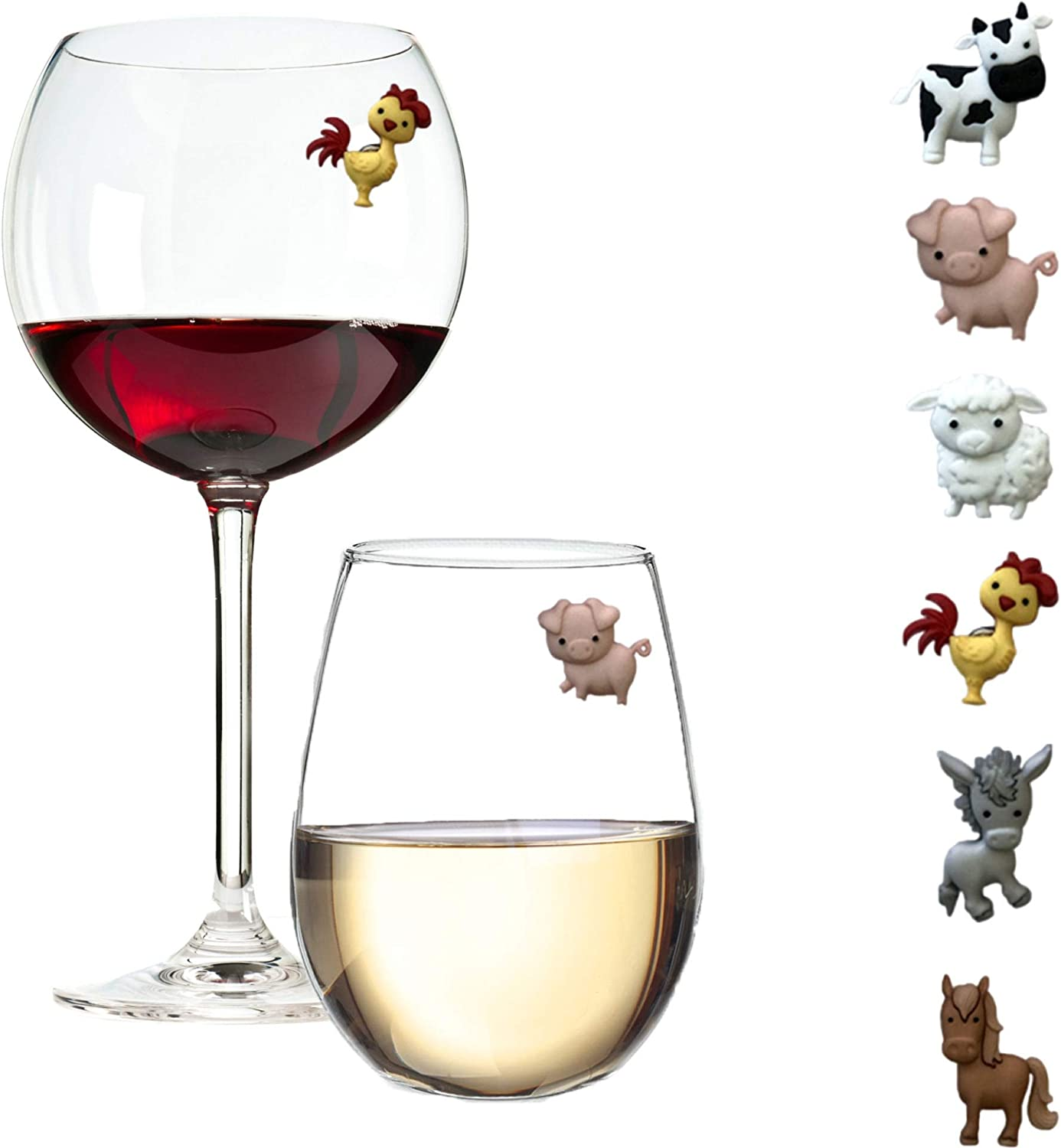 Barnyard Animal Wine Complete Free Shipping Charms Virginia Beach Mall – Markers and Id Magnetic Glass