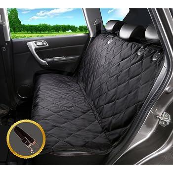 Costway Autoschutzdecke Automatten Auto Sitzabdeckung Autoschutzdecke Rücksitzschutz Wasserdicht Rutschfest Zweisitz Haustier