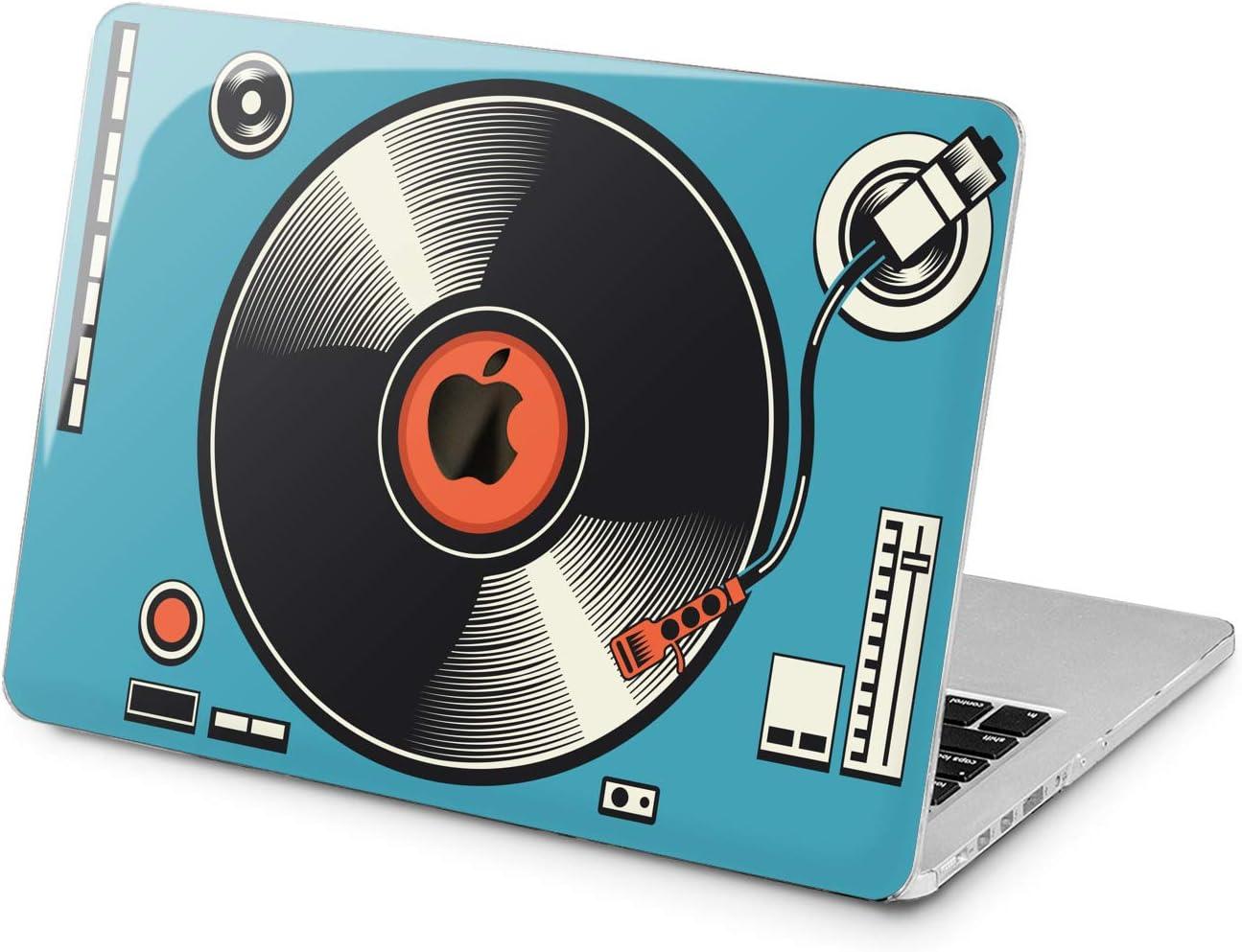 "Cavka Hard Shell Case for Apple MacBook Pro 13"" A2338 2020 Air 13"" A2179 Retina 2015 Mac 11"" Mac 12"" Retro Glam Print Laptop Blue Vinyl Vintage Design Protective Plastic Cover Art Graphic Player"