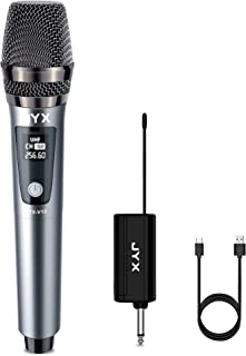 JYX Wireless Microphone,Fifine Handheld Dynamic Microphone Wireless mic System for Karaoke Nights and House Parties to Hav...