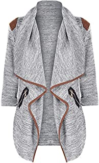 LOOKATOOL Womens Knitted Casual Long Sleeve Tops Cardigan Jacket Outwear Plus Size