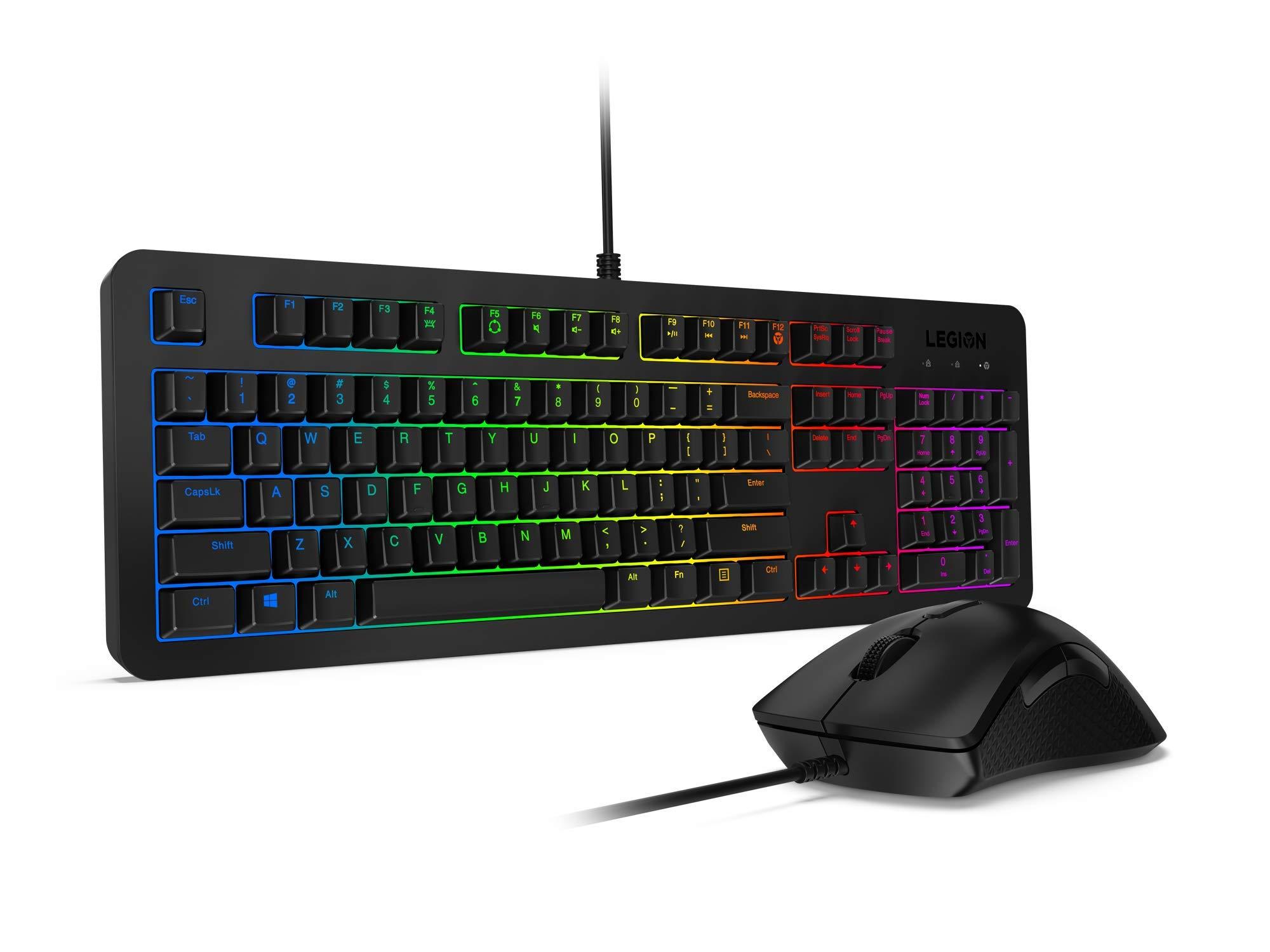 لوحة مفاتيح الألعاب ليجن K300 RGB 17.95x1.37x5.93بوصة أسود / أحمر / أزرق