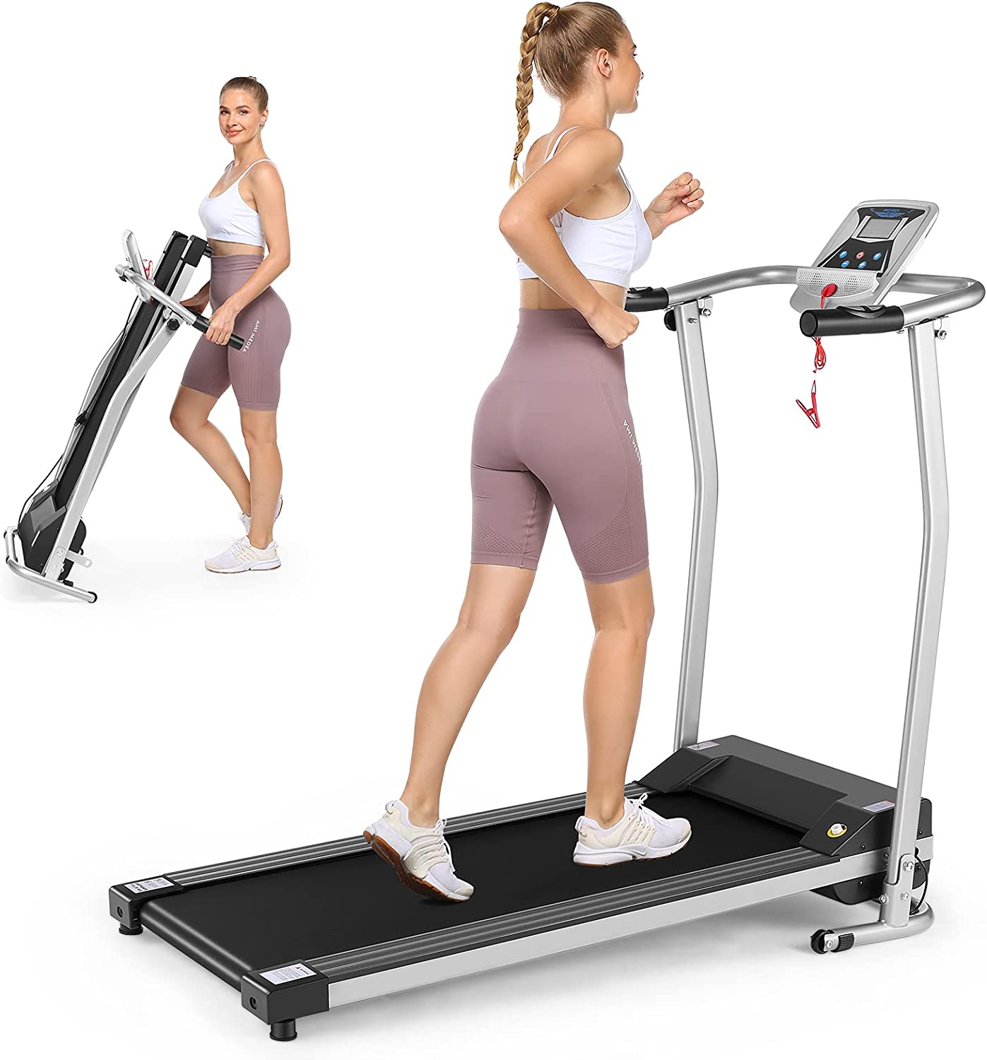 Folding Treadmill Limited time for free shipping Electric Running Machine Stop Large-scale sale Auto Func Safety