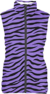 Rainbow Rules Zebra Print Mens Puffer Vest Bodywarmer Gilet