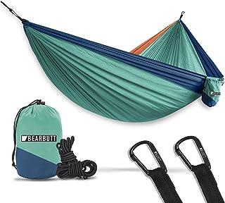 Bear Butt Hammocks - Camping Hammock for Outdoors, Backpacking & Camping Gear - Double hammock, Portable hammock, 2 Person Hammock for Travel, outdoors - Tree & Hiking Gear - Hammock that Holds 500lbs