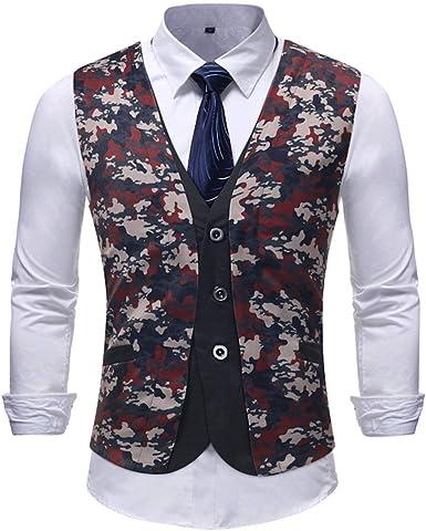 Chaleco De Traje Estampado Floral para Hombres Vestido De ...