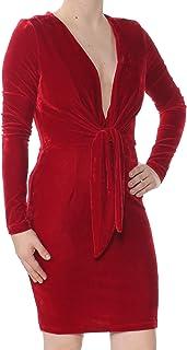 MINKPINK Women's Midnight Hour V Neck Velvet Dress