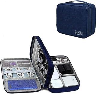 YOUBAMI Electronic Organizer Travel Universal Organizer Storage Bag, Three Layer Polyester Waterproof Trave Accessorie Bag...