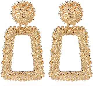 2019 new Vintage Earrings for women gold color Geometric statement earring metal earing Hanging jewelry Boucle d'oreille Brincos