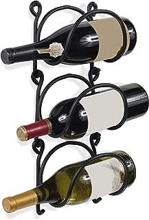 black wrought iron hanging wine rack