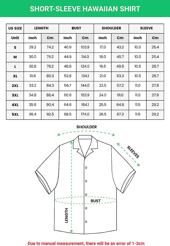 Tropical Hawaiian Shirts for Men Women - Food Button Down Mens Hawaiian Shirts Short Sleeve Set 25