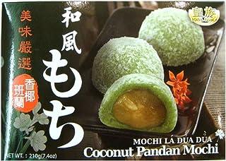 Mochi Coconut Pandan 7.4oz (Pack of 6) + one ninechef Spoon