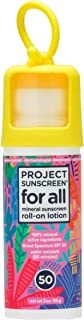Project Sunscreen Roll-On SPF 50 Sun Protection for All Ages - Natural Mineral Based and Water Resistant Formula For Sensi...