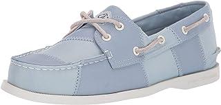 Sperry womens A/O 2-eye Bionic Boat Shoe, Blue/Light Pink, 7.5 US