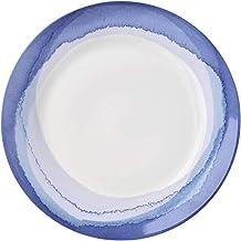 Lenox 865611 Indigo Watercolor Stripe Accent Plate