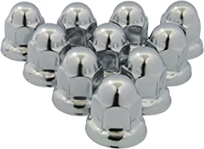 RoadPro RP-33SS10 33mm Polished Stainless Steel Flanged Lug Nut Cover, (Pack of 10)