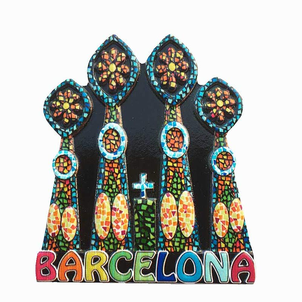 Imán para nevera de la iglesia de Barcelona, España, regalo de recuerdo de viaje, decoración del hogar y la cocina, imán de la colección Barcelona: Amazon.es: Hogar
