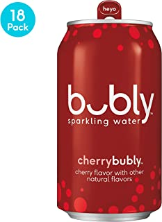 bubly Sparkling Water, Cherry, 12 Fluid Ounces cans (18 Pack)