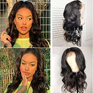 9A Virgin Brazilain Body Wave Wig Glueless Lace Front Human Hair Wigs for Women Deep Body Wave Lace Front Wig Human Hair Pre Plucked Can Bleached Knots Natural Hair Wigs Wavy Lace Wigs with Baby Hair