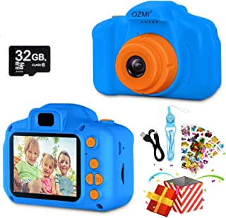 OZMI Upgrade Kids Selfie Camera, Best Birthday Gifts for Boys Age 3-12, Children Digital Cameras 1080P 2 Inch Toddler Vide...