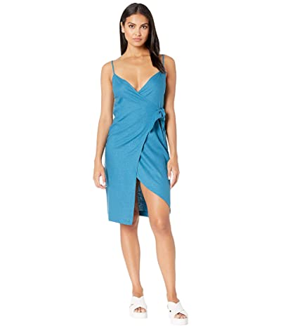 BCBGeneration Wrap Midi Dress TDZ6222791 (Electric Blue) Women