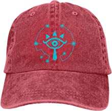 Fishoceany Mens & Womens Washed Dyed Adjustable Jeans Hat with Sheikah Slate Legend of Zelda Breath of The Wild Logo