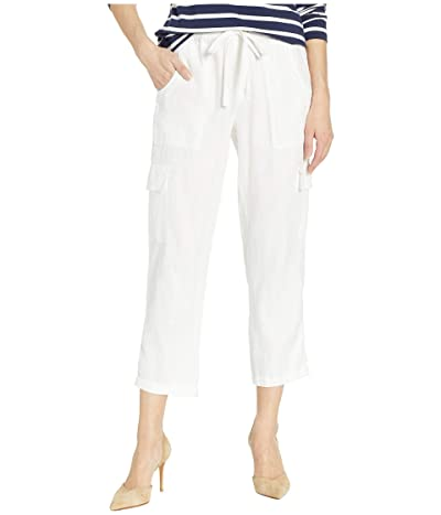 Sanctuary Discover Pull-On Linen Cargo Pants (Brite White) Women