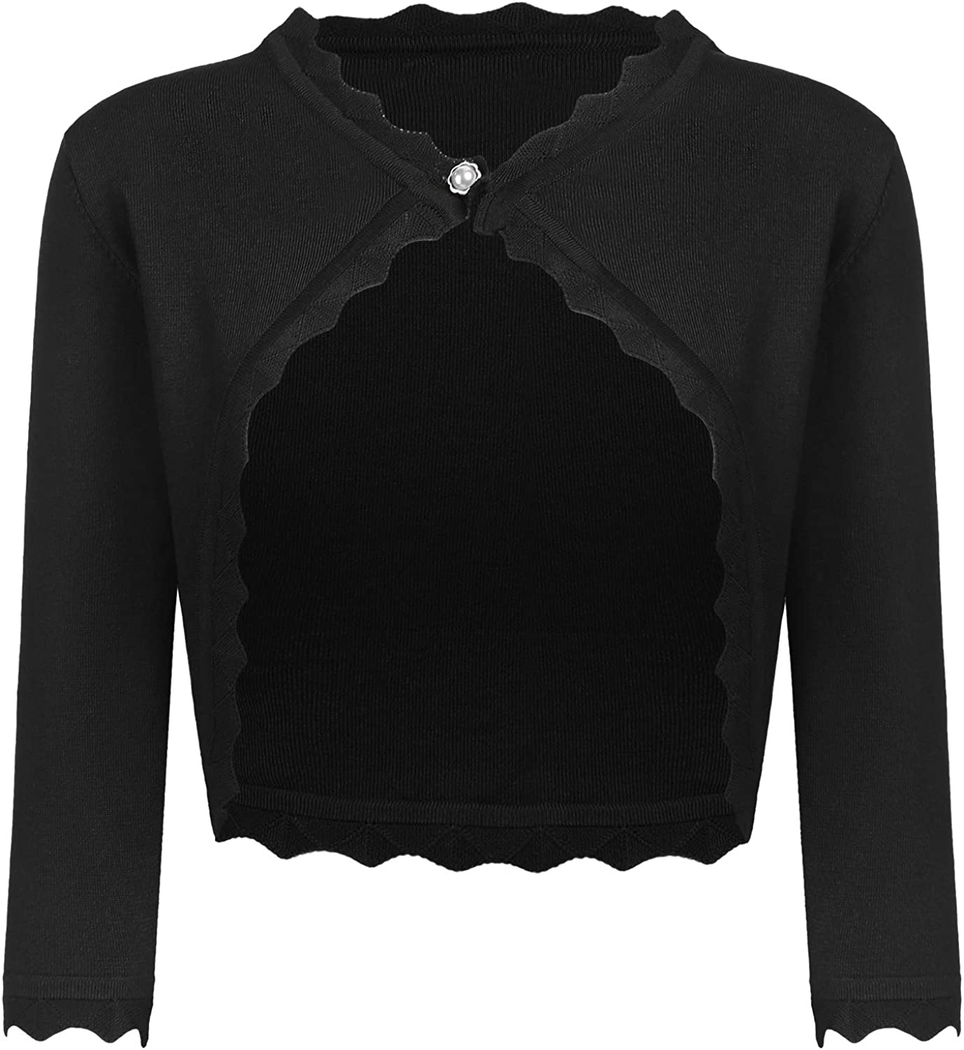 Guteer Women's Bolero Cropped Cardigan free Clearance SALE! Limited time! Front Shrug J Open