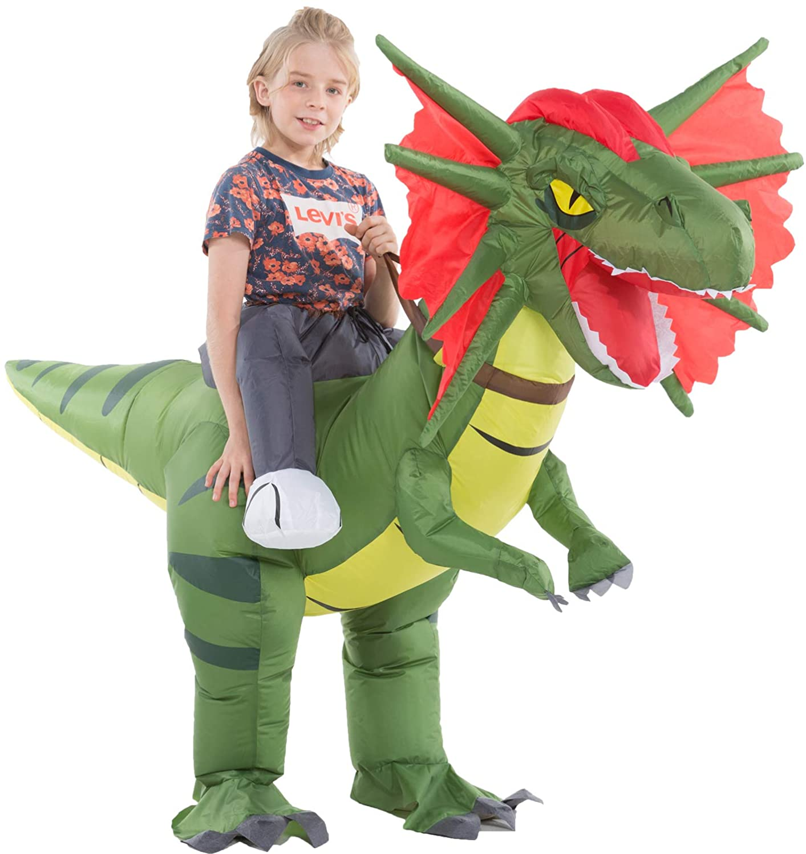 Hsctek Inflatable Ride on Dinosaur Kids Boys National uniform free shipping Costume Girls for Ranking TOP10