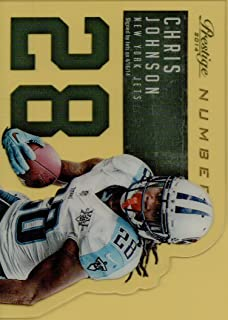 CHRIS JOHNSON - 2014 PANINI PRESTIGE NFL DIE CUT FOOTBALL CARD #17 (NEW YORK JETS) FREE SHIPPING AND TRACKING
