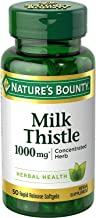 Nature's Bounty Milk Thistle 1000mg, 50 Softgels  (Pack of 2)