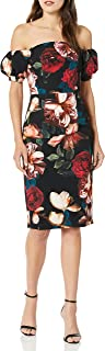 Black Halo Womens Arden Sheath Short-Sleeve Dress