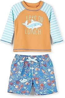 Hatley Boys' Baby Rash Guard Swimsuit Sets