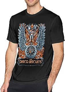 Disco Biscuits Men Casual Short Sleeve Premium Strechy Fabric T Shirt
