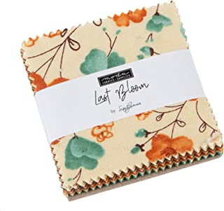 Last Bloom Mini Charm Pack by Sandy Gervais; 42-2.5 Inch Precut Fabric Quilt Squares