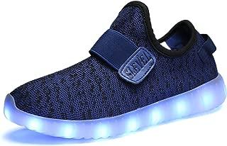 SLEVEL Kids LED Light Up Shoes Dance Dazzle Sneaker for Boys Girls