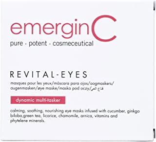 emerginC Revital-Eyes Mask - Soothing Pads with Cucumber + Ginkgo to Help the Appearance of Puffy Eyes + Dark Circles (5 Sets of 2)