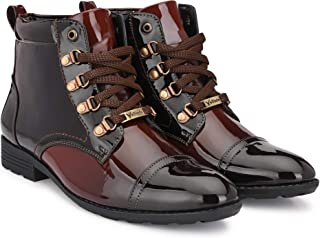 Vellinto Royal Look Shoes for Men ll Casual Shoes for Men ll Latest Patent Leather Boots for Men