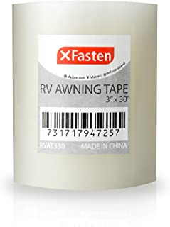 XFasten RV Awning Repair Tape, 3-Inches x 30 Feet, Waterproof Rip Stop Patch for Vinyl, RV punctures, Camper, Awning, Canopy, Tents, Tarpaulin and Greenhouse