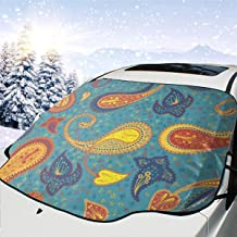 TianHeYue Art Design Colorful Car Windshield Snow Cover Frost Guard Ice Removal Wiper Fits Most Cars Vans and SUVs