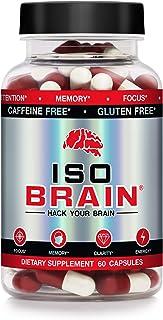 Iso Brain Supplement- Stimulant Free Nootropic - 30 Day Supply - 15 Premium Ingredients, Cognizin, Lion's Mane, Rhodiola, ...