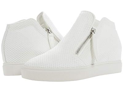 Steve Madden Click Wedge Sneaker (White) Women
