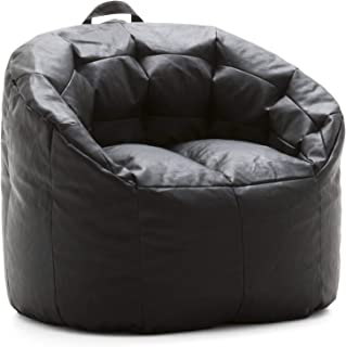 Big Joe Lux Siena, Montana Leather Black Bean Bag