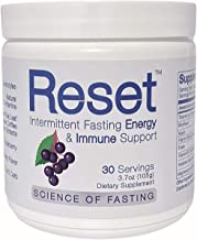 New! RESET Wild Berry /Elderberry Fasting Immune Support & Energy High Grade Electrolytes, B-Complex Vitamins, Green Leaf ...