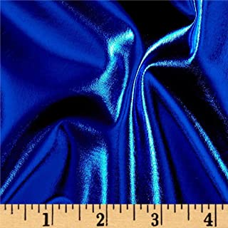 Ben Textiles Foil Lame Knit Spandex Fabric, Royal, Fabric by the yard